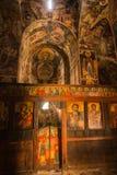 La piccola chiesa pittoresca, Prespa, Grecia fotografia stock libera da diritti