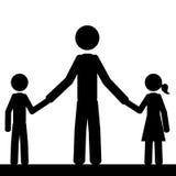 La piccola famiglia Fotografia Stock Libera da Diritti