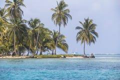 La piccola isola dei Caraibi, San Blas Islands Fotografia Stock