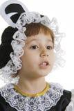 La piccola ragazza è costume dell'ape Immagini Stock Libere da Diritti