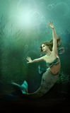 La piccola sirena Fotografia Stock Libera da Diritti