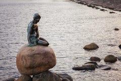 La piccola sirena Copenhaghen Fotografie Stock