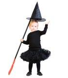 La piccola strega adorabile ha isolato Fotografia Stock Libera da Diritti