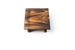 La piccola tavola di legno, con la bella superficie di struttura immagine stock
