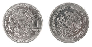Pièce de monnaie mexicaine antique Photographie stock