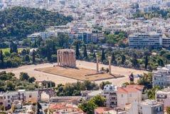 La piedra antigua permanece en Atenas Imagen de archivo