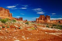 La piedra arenisca del órgano, arcos parque nacional, Utah, los E.E.U.U. Fotografía de archivo libre de regalías