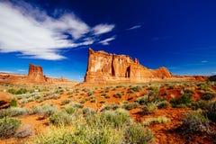 La piedra arenisca del órgano, arcos parque nacional, Utah, los E.E.U.U. Imágenes de archivo libres de regalías