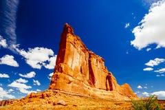 La piedra arenisca del órgano, arcos parque nacional, Utah, los E.E.U.U. Foto de archivo libre de regalías