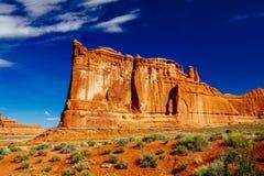 La piedra arenisca del órgano, arcos parque nacional, Utah, los E.E.U.U. Imagen de archivo libre de regalías