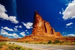 La piedra arenisca del órgano, arcos parque nacional, Utah, los E.E.U.U. Imagen de archivo