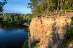 La piedra arenisca outcrops los acantilados de Erglu Fotografía de archivo libre de regalías