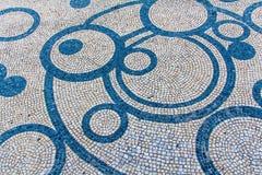 La piedra bloquea la textura del pavimento para el fondo Imagen de archivo