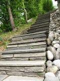 La piedra construyó las escaleras Imagenes de archivo