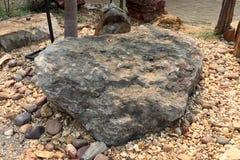 La piedra de Oncolites, oncolites es estructuras sedimentarias integradas por los oncoids, que son estructuras acodadas formadas  foto de archivo