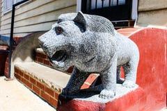 La piedra del león de Asia Fotografía de archivo libre de regalías