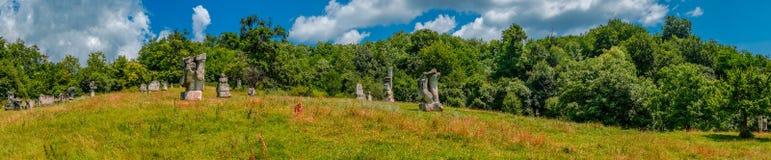 La piedra esculpe el campo Fotografía de archivo libre de regalías