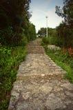 La piedra hermosa camina estilo mediterráneo Foto de archivo libre de regalías