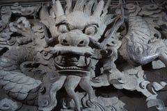 La piedra talla el dragón Imágenes de archivo libres de regalías