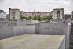 La piel de Denkmal muere Juden ermordeten el monumento de Europa a los judíos asesinados de Europa imagen de archivo libre de regalías