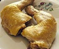 La pierna de pollo foto de archivo