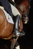 La pierna del jinete Fotografía de archivo