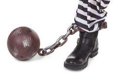 La pierna del preso Imagen de archivo libre de regalías