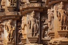 La pierre a découpé dans Khajuraho, Inde photos libres de droits