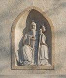 La pierre découpée antique de caractères chinois Image libre de droits