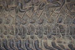 La pierre découpe dans le mur d'Angkor Vat Photo libre de droits