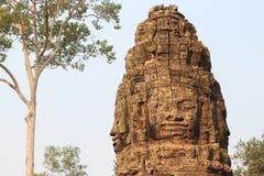 La pierre découpe dans le temple de Images libres de droits