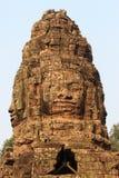La pierre découpe dans le temple de Bayon Photographie stock