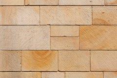 La pierre de Brown bloque le mur Photo stock