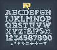 La pierre a fait ABC Alphabet de vintage de vecteur Photographie stock libre de droits