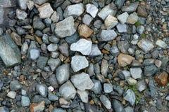 La pierre lapide la montagne de gris de couleurs Photos libres de droits