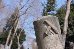 La pierre tombale de période d'empire de tabouret photographie stock libre de droits