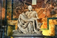 La Pieta By Michelangelo Stock Photos
