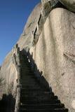 La pietra ascende il fianco di una montagna Fotografia Stock Libera da Diritti