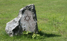 La pietra commemorativa Fotografia Stock