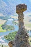La pietra del fungo, Akkurum, Altai La Russia Immagine Stock