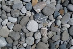 La pietra del mare e la spiaggia in Soci fotografie stock libere da diritti