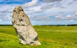 La pietra del tallone vicino a Stonehenge Fotografia Stock Libera da Diritti