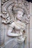 La pietra di Angkor scolpisce fotografie stock libere da diritti