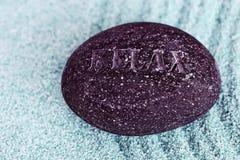 La pietra di zen si distende Immagini Stock