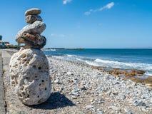 La pietra dipende il lungomare, Creta, Grecia immagine stock libera da diritti