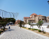 La pietra greca ha costruito la cappella nell'isola di Paros, Grecia Immagine Stock Libera da Diritti