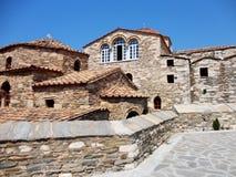 La pietra greco ortodossa ha costruito la cappella nell'isola di Paros, Grecia Immagini Stock Libere da Diritti