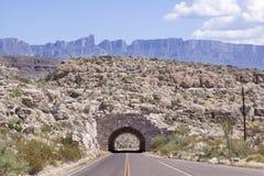 La pietra ha costruito il tunnel nel Texas Fotografie Stock Libere da Diritti