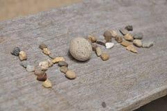 La pietra nel testo della tavola Fotografie Stock Libere da Diritti