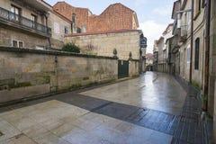La pietra pavimenta bagnato di pioggia Fotografia Stock Libera da Diritti